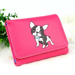 Lovely Cards Australia - Women Wallets Lady Purses Lovely Dog Prints Short Moneybags Girls Wallet Photo Cards Id Holder Coin Purse Bags Notecase Pocket