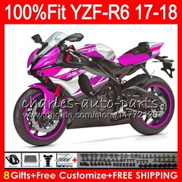 Pink yamaha r6 online shopping - Injection Body For YAMAHA Rose Pink on sale YZF600 YZF R6 Bodywork HM YZF YZF R YZF R6 YZF YZFR6 Fairing Kit