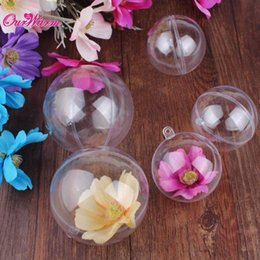 $enCountryForm.capitalKeyWord Australia - ecorations home 10pcs Acrylic Transparent Ball Christmas Decorations for Home 70 80mm Clear Plastic Ball Candy Box for Favors Party Supp...
