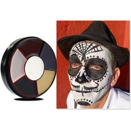 face tattoos for halloween 2019 - VERONNI 6 Color Halloween Party Face Body Painting Professional Oil Tattoo Body Paint Makeup Cosmetic Painting Art For P