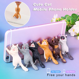 $enCountryForm.capitalKeyWord Australia - Phone Holder Cute Cat Support Resin Mobile Phone Holder Stand Sucker Tablets Desk Sucker Design high quality Smartphone car