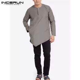 $enCountryForm.capitalKeyWord NZ - Camisa Indian Men Kurta Suits Long Sleeve Casual Shirts Muslim Arab Nepal Shirts Middle East Islamic Kurtas Men Clothes Kaftan