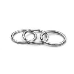 metal rings 25mm UK - 80pcs 25mm 30mm Exquisite Key Chain Key Ring Diy Jewelry Accessories For Keychain