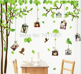 """Large Pictures For Walls Australia - 20 pcs lot Wholesale large size 118*71""""(300x180cm) Photo frame tree Family Picture Wall Stickers for home decoration decals"""