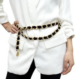Tassel Flannel Gold Belt Ladies Designer Exaggerated Vintage Flocking Waist Chain Female luxury Alloy Metal Chain Belt For Women Y191130 on Sale