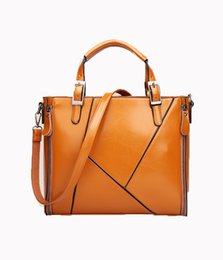 hard briefcases UK - Lucky2019 Concise Package Woman Oil Wax High Archives Portable Oblique Satchel Single Shoulder Briefcase