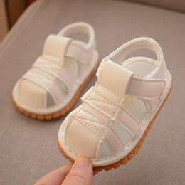 $enCountryForm.capitalKeyWord NZ - 2019 summer baby sandals called shoes 1 year old baby soft bottom non-slip baotou anti-kick ankle toddler shoes