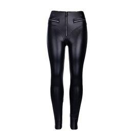 $enCountryForm.capitalKeyWord UK - 2019 PU Leather Patchwork Pants Women Elastic Waist Hip Push Up Black Sexy Female Jegging Pants Casual Skinny Pencil Pants Trousers