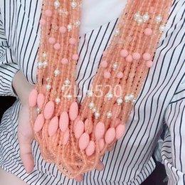 Großhandel Natürliche Halskette modische Steinfelsen Halskette Reis - geformte Joker Temperament Geburtstagsgeschenk