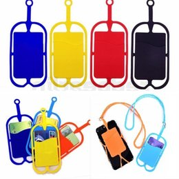 Wholesale lanyards for sale - Group buy Neck Strap Necklace Sling Card Holder Silicone Lanyards for iphone Samsung Huawei Universal Mobile Phone