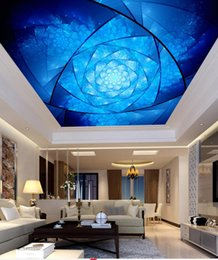 Colorful wallpapers online shopping - Photo Wallpaper Living Room Bedroom KTV Ceiling Murals Wallpaper Abstract blue colorful spiral pattern fashion ceiling mural