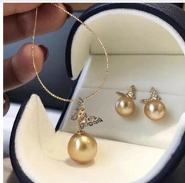 $enCountryForm.capitalKeyWord Australia - set of 10-11mm south sea round gold pearl pendant &earring 14kavfgsgv