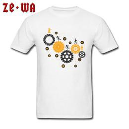 $enCountryForm.capitalKeyWord Australia - Engineer Style T-shirt Men Formal White Clothes Cotton T Shirt Geek Punk Gears Print Tops Graphic Tees Novelty Tshirt Custom