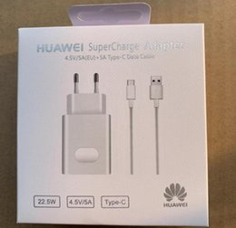 8fc75451834 Оригинальный OEM EU Super Fast Charging HW-050450E00 Настенное зарядное  устройство Адаптер питания с USB-кабелем типа C для синхронизации данных  для Huawei ...