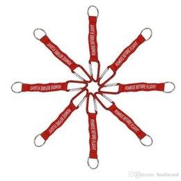 Gadgets para el exterior Letra tejida bordada Llavero QUITAR ANTES DEL VUELO Llavero Llavero Rojo Etiqueta de seguridad de la aviación Keychians