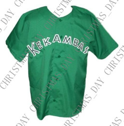 g player 2019 - Cheap Custom G-Baby Kekambas Hard Ball Movie Baseball Jersey Button Down Green Stitched Any player jersey college baseba