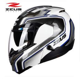 $enCountryForm.capitalKeyWord Australia - ZEUS Motorcycle Full Up Helmet Protective Gear Full Face Motocross Helmet Easy Clasp Closure Combination Multi-function