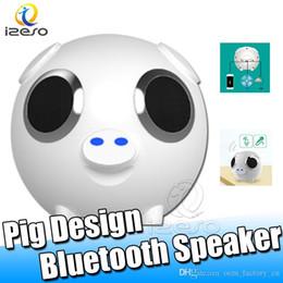 Speaker loudSpeaker online shopping - M20 Wireless Bluetooth Speaker Car Audio Subwoofer FM Radio Loudspeaker Moblie Power Fashion Pig Design Cute Speakers with Retail Packaging