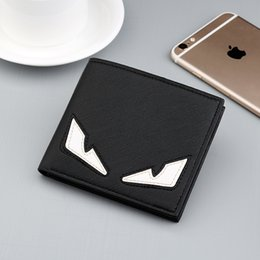 Designer Wallet Fashion Brand Men Purses Leather Monster Eyes Card Wallet Boy Student Coin Purses High Quality from selling high heel shoes suppliers