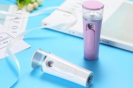 $enCountryForm.capitalKeyWord Australia - DHL FREE Portable Mini Face Spray Bottle Nano Mister Facial Hair Steamer USB Rechargeable Power Bank Sprayer 2 in 1 Travel Tool