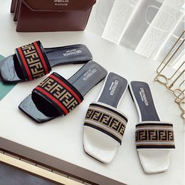 $enCountryForm.capitalKeyWord NZ - Women Designer Sandals F letter Striped Summer Fashion Luxury Mules Slip On Flip Flops Platform Flat Sandal Beach Bath Shoes LJJA2391