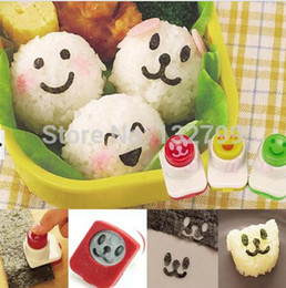 Sushi Rice Mold Cutter Australia - 3PCS Smile Cute Sandwich DIY Tool Nori Punch Sushi Rice Mold Decor Bento Cutter Mould Maker Set