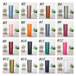 20oz Stainless Steel Skinny Tumbler Vacuum Insulated Straight Cup Water bottle Coffee Skinny Mug Wine Glass Double Wall Flask ZZA1523 on Sale