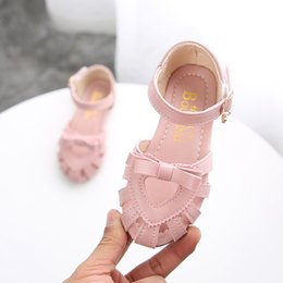 sandals designs for girls Australia - ULKNN Toddler Girl Sandals Solid Elegant Heart Design Sandals Shoes For Girls Kids Summer Beach Sandal Outdoor Shoes