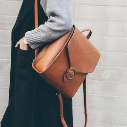 $enCountryForm.capitalKeyWord NZ - Fashion Women Backpack 2019 Pu Leather Retro Female Bag Schoolbags Teenage Girl High Quality Travel Books Rucksack Shoulder Bags