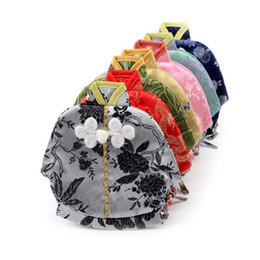 packaging jewelry shape NZ - 13x12cm Vintage Chinese Clothes Shaped Small Bag Zipper Coin Purse Jewelry Gift Pouches Silk Brocade Craft Packaging Bag
