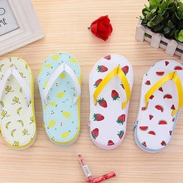 cute slippers for kids Australia - Creative Cute Pencil Bag Slipper Shape Fruit Pattern Pencil Case Kawaii Stationery School Supplies For Kid Girls Case