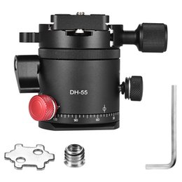 indexing plates Australia - Dh-55 Indexing Rotator Hdr Panorama Panoramic Ball Head with 1 4 Inch Quick Release Plate Aluminum Alloy for Camera Tripod