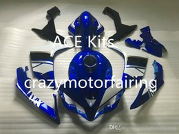 Yamaha Blue Australia - 3 gifts New Injection ABS Fairing kits 100% Fit for YAMAHA YZFR1 07-08 YZF R1 2007-2008 YZF1000 bodywork Blue Black AP2
