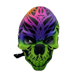 mask rig 2019 - Newest Ghost Skull silicone mask cool colors Printing oil rigs water pipes Bongs colorful smoking bubbler pipes Christma