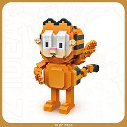 educational kids building blocks Australia - LOZ Cartoon Garfield& Odie Cute Dog& Cat Building Blocks, Mini DIY Assemble Educational Toy, Ornament for Kid Birthday Gifts, Collenting 2-1