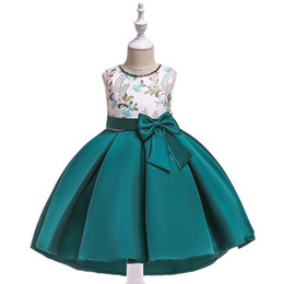 $enCountryForm.capitalKeyWord Canada - Baby Blue Green Cameo Pink Knee Girl's Pageant Dresses Flower Girl Dresses Princess Party Dresses Child Skirt Custom Made 2-14 H312190