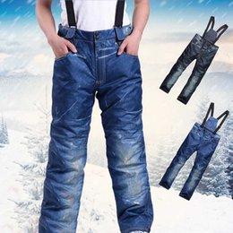 Warm Waterproof Pants Men NZ - Outdoor Ski Pants Men Winter Profession Snowboard Pants Waterproof Windproof Snow Trousers Breathable Warm Ski Clothes S-3XL