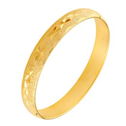 24k gold jewelry dubai 2019 - Dubai 24K Gold Bangles For Women Bride Wedding Party Open Cuff Bangles Bracelets African Ethnic Wristbands Jewelry Hot S