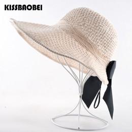 Chapeu floppy hat online shopping - Empty Sun Hats For Women Beach Straw Panama Cap Ladies Floppy Wide Brim hat women Summer Seaside Visor Caps Chapeu