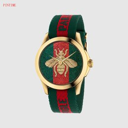 Brand Luxury Style Watch Australia - Fashion brand bee bee style women's girl nylon belt quartz watch GU24