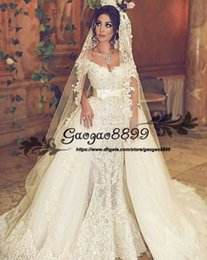 bc6e5335079 Wedding dress ribbon detachable skirt online shopping - 2019 Lace Vestido  De Novia Mermaid Wedding Dresses