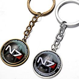 $enCountryForm.capitalKeyWord NZ - silvery trendy men boy children alloy game Mass Effect KeyChain game Mass Effect Key Chain game Mass Effect Key Ring Pendant 2018 y204