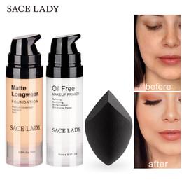 Oil Based Makeup Brands Australia - Sace Lady Professional Makeup Set Matte Foundation Primer Base Make