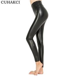 43a36385acc32e CUHAKCI 2017 Free dropshipping Women Hot Sexy Black Wet Look Faux Leather  Leggings Slim Shiny Pants Plus size S M L XL XXL