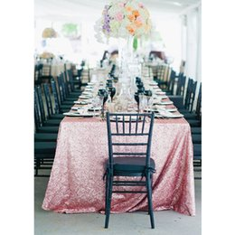 Rectangle Wedding Table Cloth Australia - 17 Color 225cmx330cm Glitter Pink Gold Sequin Tablecloth 90x132 Inch Wedding Tablecloth Decoration Rectangle Sequin Table Cloth T8190620