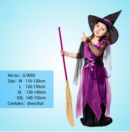 Christmas Dance Show Costumes UK - NoEnName Witch Costume For Girls Role Play Cosplay Performance Dance Show Holiday holiday Costumes For Kids Vampire Witch Dress