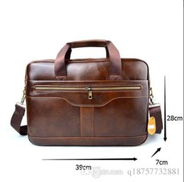 $enCountryForm.capitalKeyWord Australia - AETOO Genuine Leather genuine leather laptop bag Handbags Cowhide Men Crossbody Bag Men's Travel brown leather briefcase 002