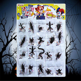 Funny Prank Gifts NZ - Besegad 20PCS Funny Realistic Plastic Insect Prank Toy for Kids Children Gift Halloween April Fool Day Party Decoration