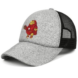 Cool Unisex Kids Hats Australia - Super hero Iron Man kids baseball caps Fit Teen baseball cap Plain grey cap cool hats hats