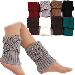 women ankle cuffs NZ - 1 Pair Women Crochet Boot Cuffs Knit Short Legging Toppers Boot Ankle Gaiters Winter LXH